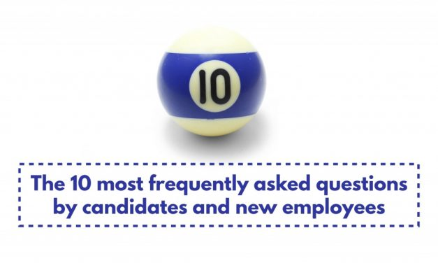 10 most frequently asked questions by candidates and new employees